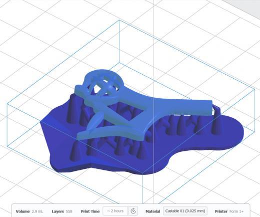 VKHK teenetemärk 3D printeri tarkvaras