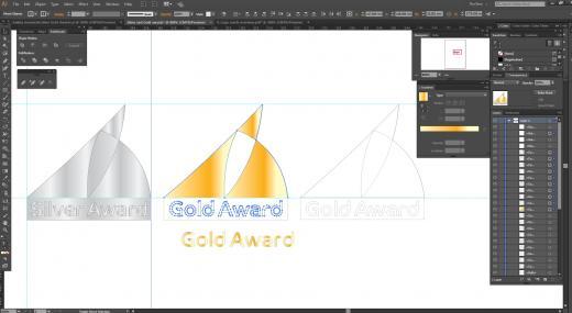 Rinnamärk World Sailing Award kujundus