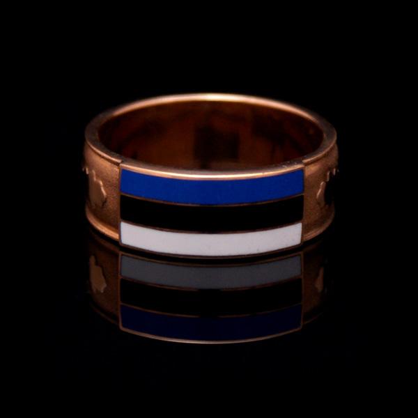 Kullast Eesti lipu sõrmus