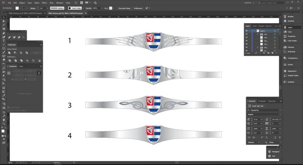 Выпускное кольцо дизайна
