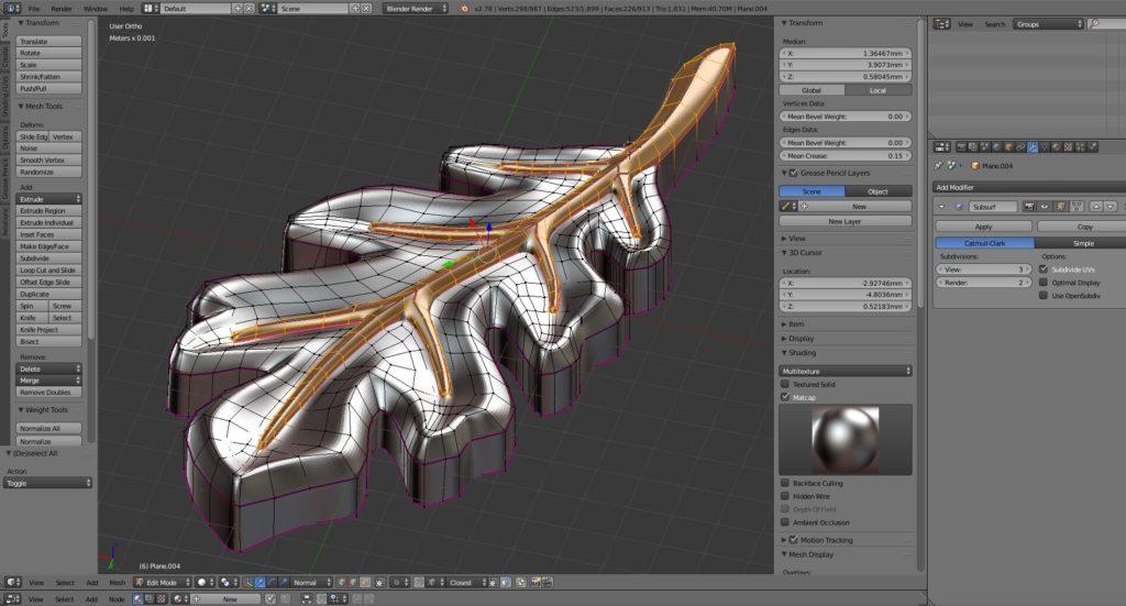 3D-моделирование значка Swedbank