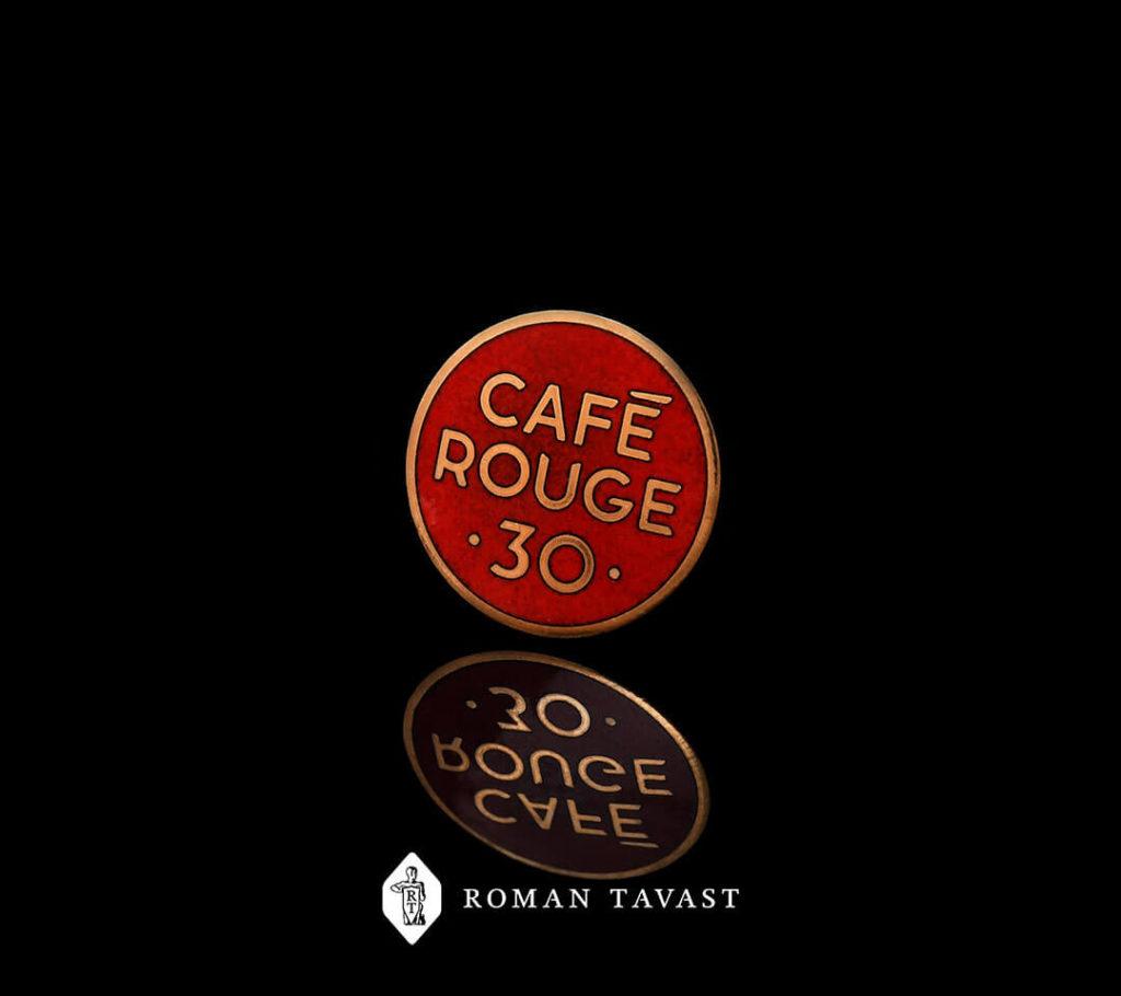 Kvaliteetsed rinnamärgid Cafe Rougele