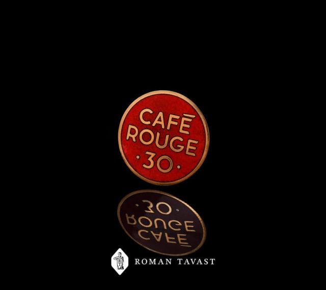 Kvaliteetsed rinnamärgid Cafe Rouge-le