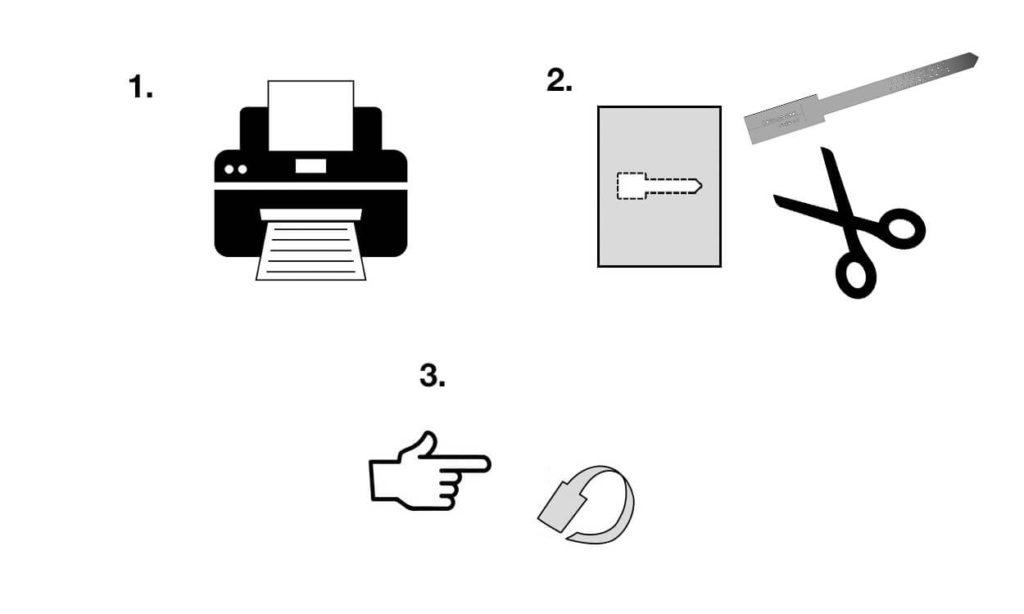 Prindi välja paberist sõrmuse mõõduskaala