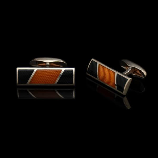 Mansetinööbid Stripes, oranž