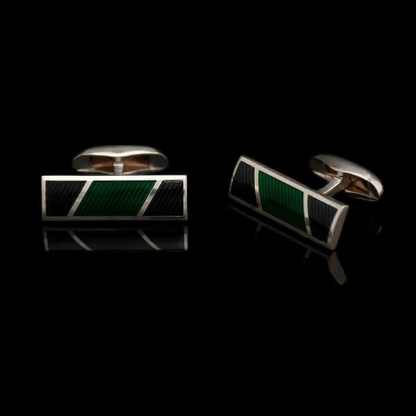 Mansetinööbid Stripes, roheline
